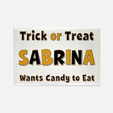 Sabrina Trick or Treat Rectangle Magnet