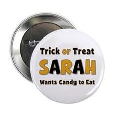 Sarah Trick or Treat Button