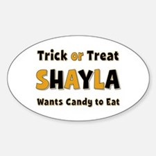 Shayla Trick or Treat Oval Decal