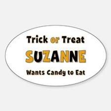 Suzanne Trick or Treat Oval Decal