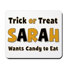 Sarah Trick or Treat Mousepad