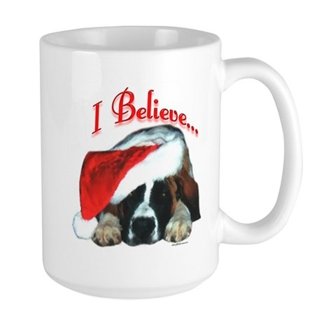 Saint I Believe Large Mug