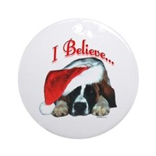 Saint I Believe Ornament (Round)