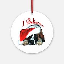 Saint I Believe Ornament (Round)