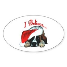 Saint I Believe Oval Decal