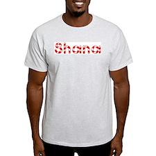 Shana - Candy Cane Ash Grey T-Shirt