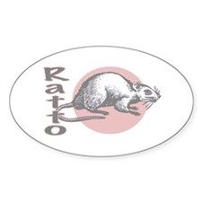 Love the Rat Italian Oval Decal