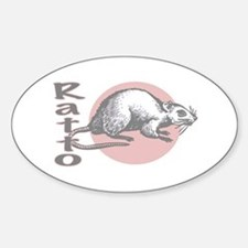 Love the Rat Italian Oval Decal