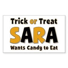 Sara Trick or Treat Rectangle Decal