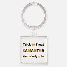 Samantha Trick or Treat Square Keychain