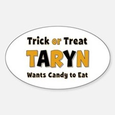 Taryn Trick or Treat Oval Decal