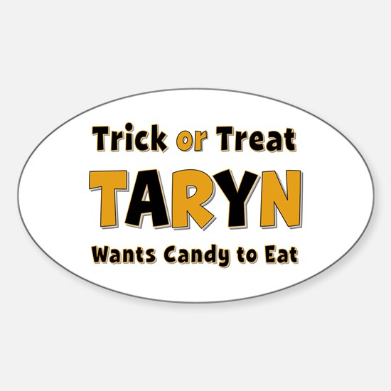 Taryn Trick or Treat Oval Decal