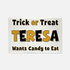 Teresa Trick or Treat Rectangle Magnet