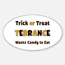 Terrance Trick or Treat Oval Decal