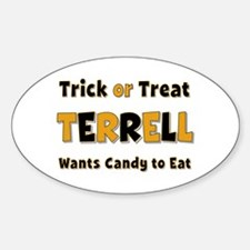 Terrell Trick or Treat Oval Decal