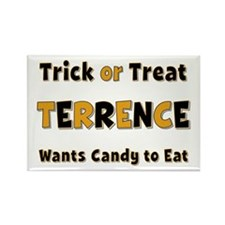 Terrence Trick or Treat Rectangle Magnet