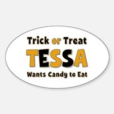 Tessa Trick or Treat Oval Decal