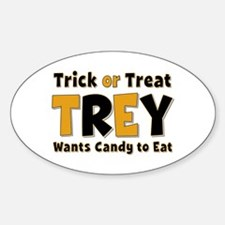 Trey Trick or Treat Oval Decal