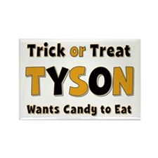 Tyson Trick or Treat Rectangle Magnet