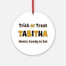 Tabitha Trick or Treat Round Ornament