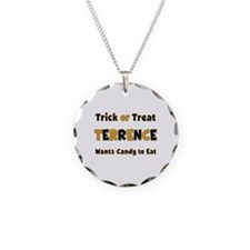 Terrence Trick or Treat Necklace Circle Charm