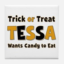 Tessa Trick or Treat Tile Coaster
