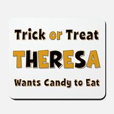 Theresa Trick or Treat Mousepad