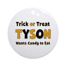 Tyson Trick or Treat Round Ornament