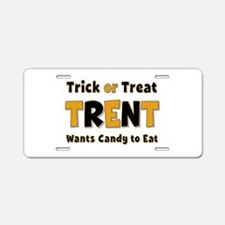 Trent Trick or Treat Aluminum License Plate