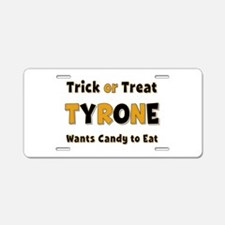 Tyrone Trick or Treat Aluminum License Plate