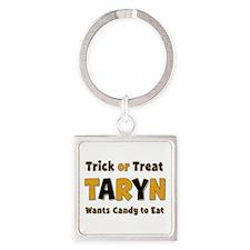 Taryn Trick or Treat Square Keychain