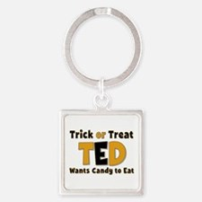 Ted Trick or Treat Square Keychain