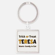 Teresa Trick or Treat Square Keychain