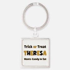 Theresa Trick or Treat Square Keychain