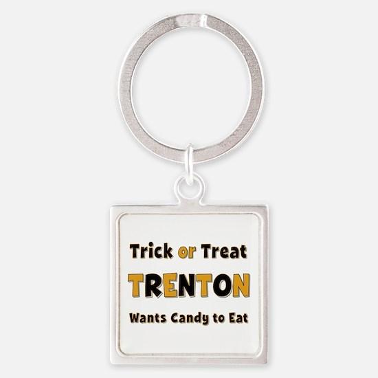 Trenton Trick or Treat Square Keychain