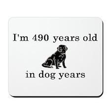 70 birthday dog years lab 2 Mousepad