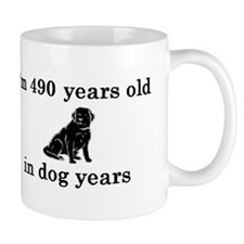 70 birthday dog years lab 2 Small Mug