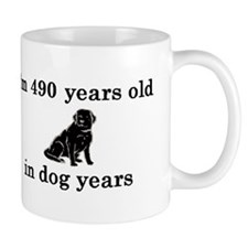 70 birthday dog years lab 2 Small Mug
