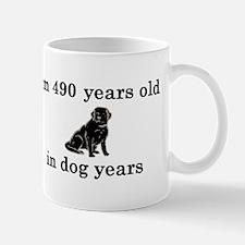 70 birthday dog years lab 2 Small Small Mug