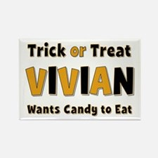Vivian Trick or Treat Rectangle Magnet