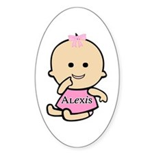 """""""Baby Alexis"""" Oval Decal"""