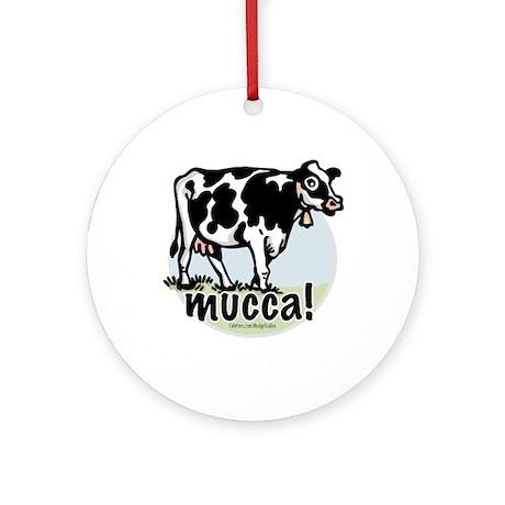 Love the Cow Italian Ornament (Round)