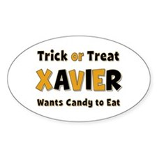Xavier Trick or Treat Oval Decal
