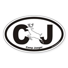 Camp Jaeger CJ Euro Oval Sticker with Deer