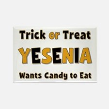 Yesenia Trick or Treat Rectangle Magnet