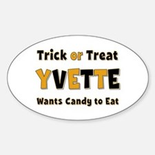 Yvette Trick or Treat Oval Decal