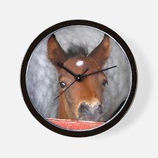 """""""Connemara Foal 2"""" Wall Clock"""