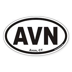 Avon Connecticutt AVN Euro Oval Decal