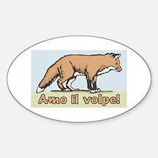 Love the Fox Italian Oval Decal