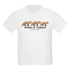 Love the Fox Italian Kids T-Shirt